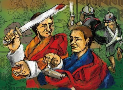 It was during the battle between Jakar Penlop Pema Tenzin and Trongsa Penlop Dungkar Gyaltshen